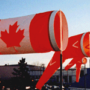 windsock with maple leaf
