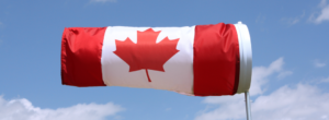 Windsock with Canadian flag image