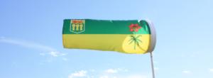 Saskatchewan windsock flag